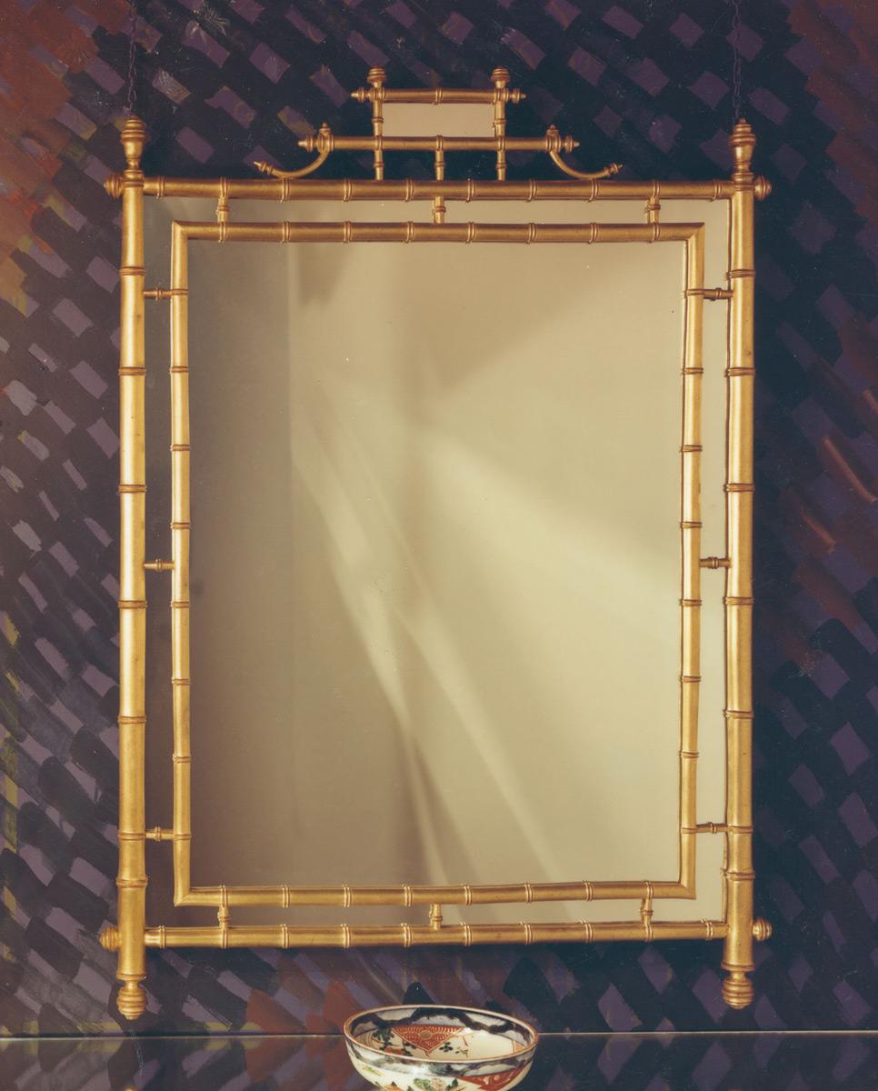 gold bamboo mirror. Turned Bamboo Mirror. 33\u0026nbspx\u0026nbsp45\ Gold Mirror