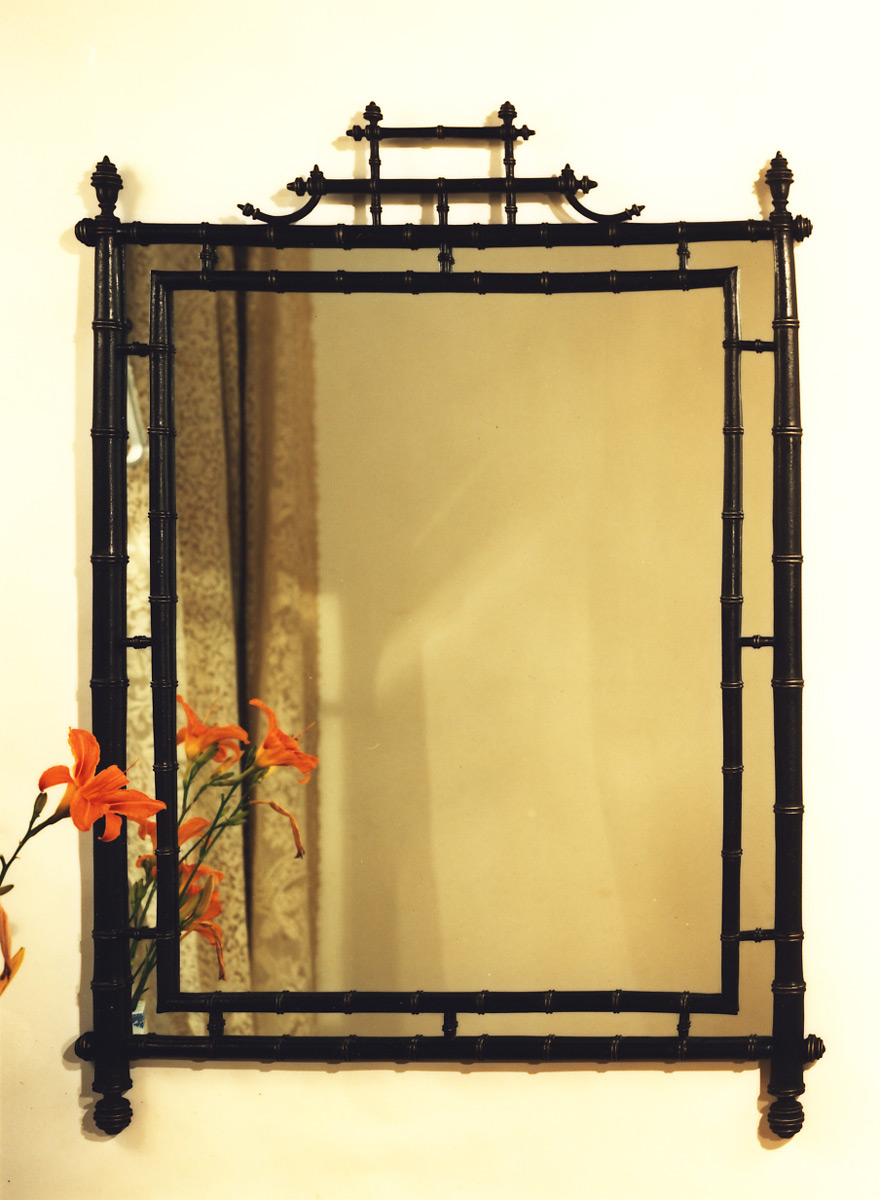 Turned Bamboo Mirror | Carvers\' Guild
