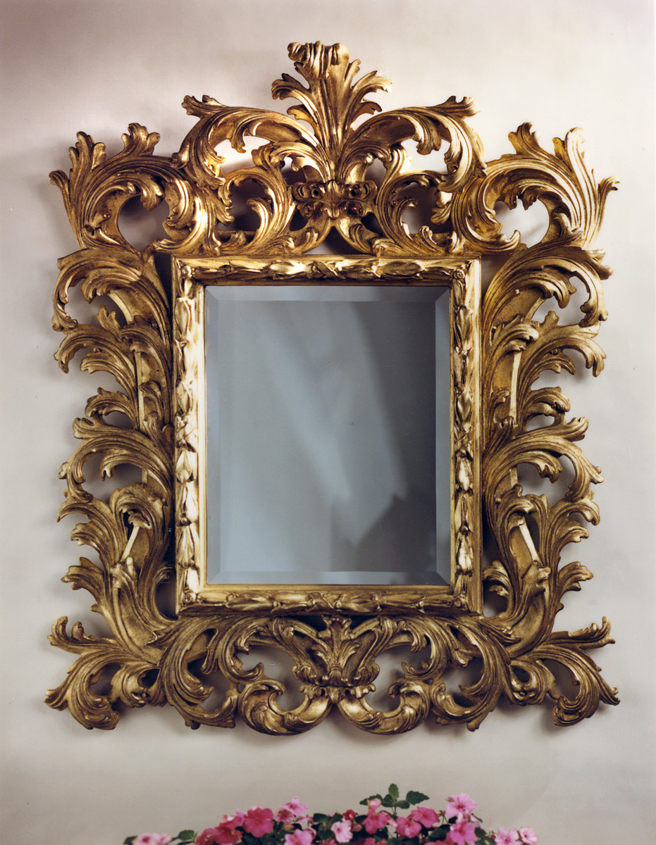 Baroque Gold Mirrors click tap to enlarge